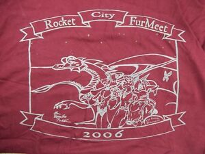 Rocket City RCFM Furmeet Furry Anime Convention Con SKETCH BOOK by PRO ART