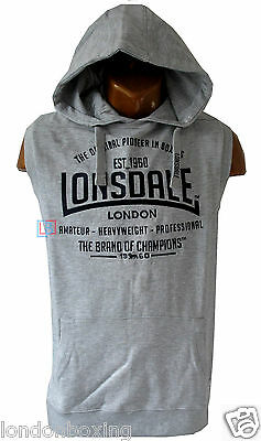 Lonsdale Mens Sleeveless Boxing Gym Fighting Hoody Sizes S to 4XL FREE SHIPPING