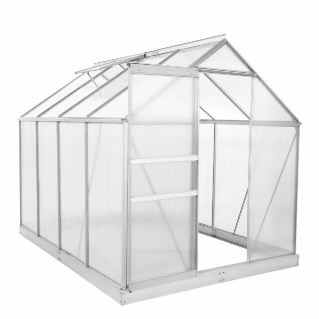 ZELSIUS Gewächshaus mit Stahlfundament Aluminium Treibhaus 4,75m² Tomatenhaus