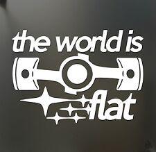 The world is flat sticker V2 Subaru WRX STI BRZ Scion Funny JDM hooligan decal