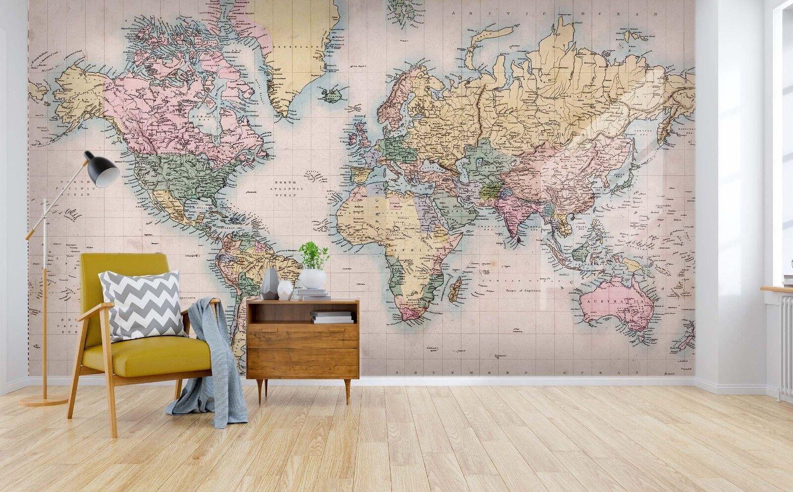 3D Rosa Weltkarte 813 Tapete Wandgemälde Tapete Tapeten Bild Bild Bild Familie DE Lemon | Neuer Eintrag  | Modern Und Elegant In Der Mode  | Deutsche Outlets  571cae