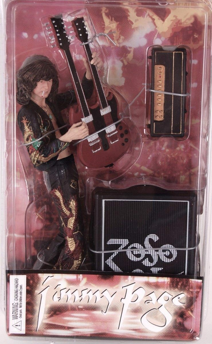 JIMMY PAGE Led Zeppelin Action Figure Guitar Amp ZOSO - NIB New in Box Rare