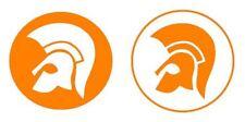 2 x TROJAN HEAD LAMBRETTA / VESPA DECAL / STICKER,