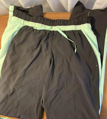 Lululemon Nylon Jogging Pants With Lining Lime Gre