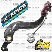 Apico Black Red Rear Brake Pedal Lever For Honda CRF 450X 2006 Motocross Enduro