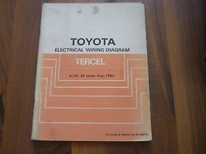 TOYOTA TERCEL L20 1982 - 1986 ELECTRICAL WIRING DIAGRAM ...