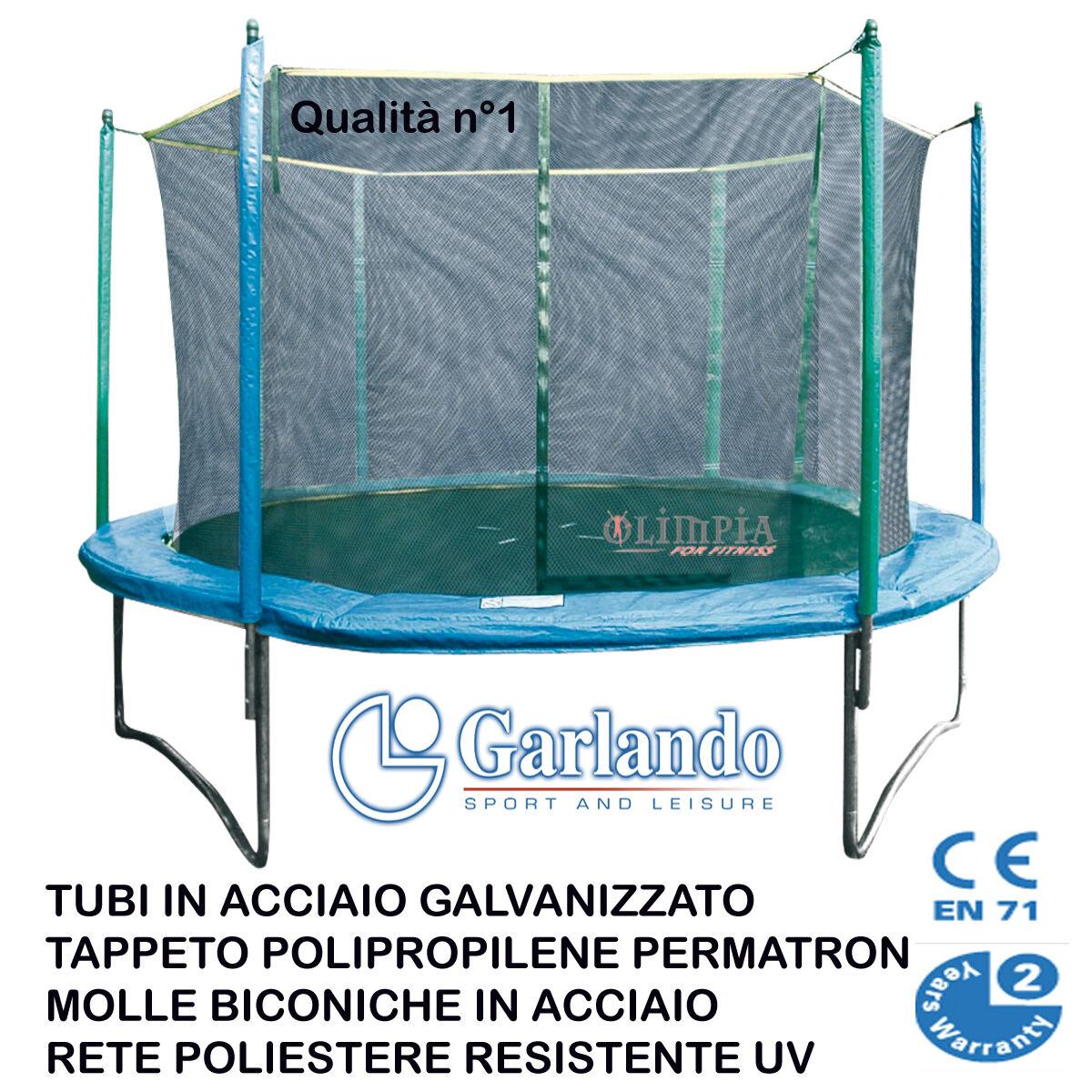 Garlando  TRAMPOLINO TAPPETO ELASTICO COMBI con RETE DI ProssoEZIONE Qualità n°1