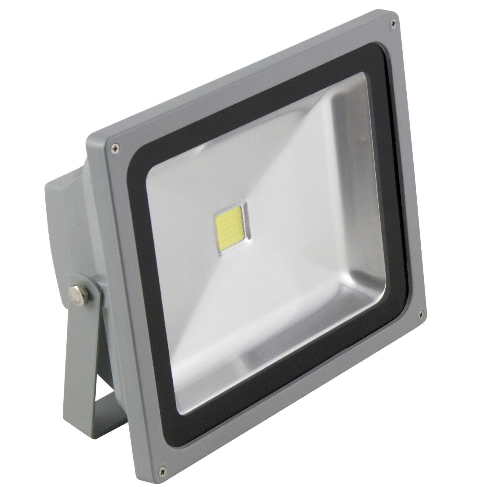 50W LED Fluter IP65 230V Fluchtlicht Außen-Leuchte Außenstrahler Scheinwerfer