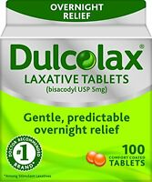 4 Pack - Dulcolax Tablets 100 Tablets Each on sale