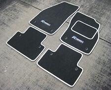 Fußmatten Grau mitSilbernen Zierleiste passend für Volvo S40/V50 04-12 +