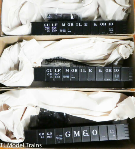 3-Pack Accurail HO #37064 Kits Gulf Mobile /& Ohio 41/' Steel Gondola