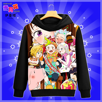 Anime The Seven Deadly Sins Hoodies Casual Sweater Sweatshirts Unisex Coat #GX3