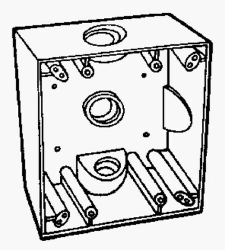 """ACE Three Holes 3//4/"""" All Weather Weatherproof Electrical Wiring Junction Box"""
