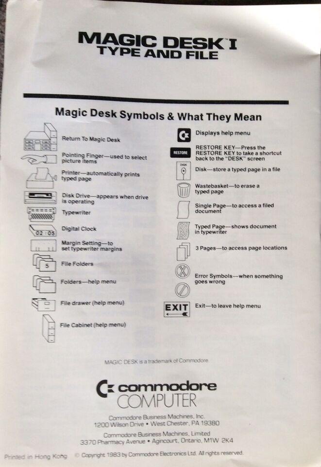 RETRO: Magic Desk Commodore 64, Retro OFFICE til C64