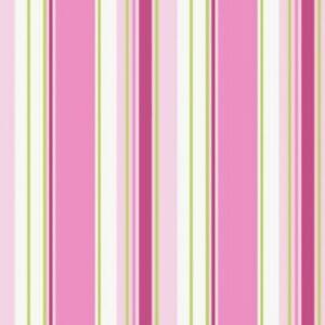 Rose Stripe Wallpaper BA4570 green pink lilac washable prepasted