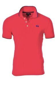 La-Martina-Polo-Poloshirt-Herren-3XL-Rot-Baumwolle-SALE-Pique