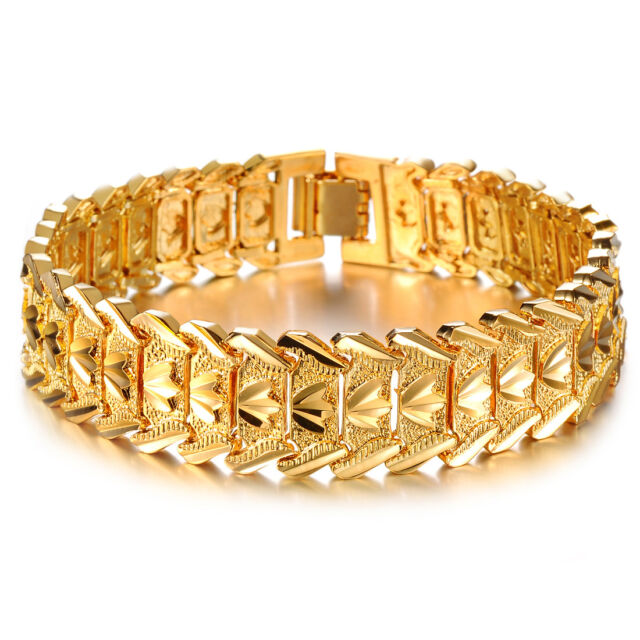 Mens Women S Uni 18k Gold Filled Bracelet G16