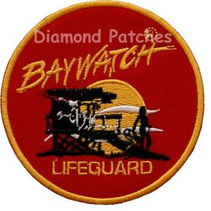 b484a054cfd3 Baywatch Lifeguard Logo Crest Iron On or Sew On Fancy Dress Patch ...