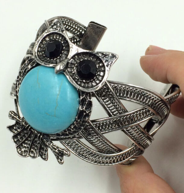 Tibetan silver jewelry handmade fashion turquoise bracelet Men/'s cuff bangle T64