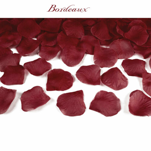 Pétalos de rosa 100 piezas textiles streudekoration boda pétalos tischdecko