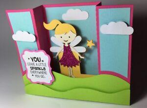 3D-Sparkle-Fairy-Card-Handmade-Ideal-For-Thank-You-Happy-Birthday