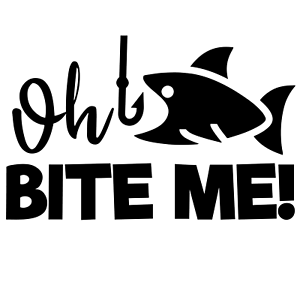RV Truck Boat BITE ME Fishing Quotes Funny Vinyl Sticker for Cars Oh Kayak