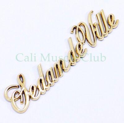 85-93 Cadillac Sedan Deville Gold Script Quarter Panel Emblem Badge Nameplate