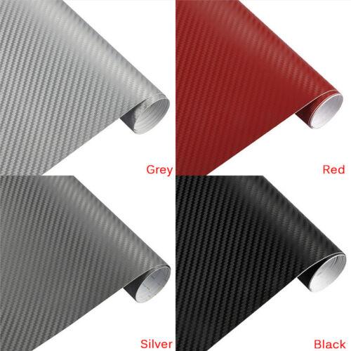 3D Carbon Fiber Matte Vinyl Film Car Sheet Wrap Roll Sticker Decor Multi Sizes