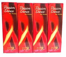 4 x AVON Passion Dance Eau De Toilette Natural Spray 50ml - 1.7oz SET!