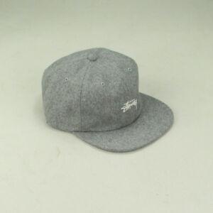 a1c2995543f Stussy Melton Wool Strapback Cap Hat Brand New In Grey 689851674068 ...