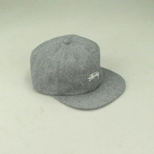 Stussy Melton Wool Strapback Cap Hat Brand New In Grey