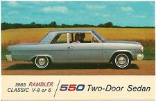 1965 Rambler American 550 2-Door Sedan Automobile Advertising Postcard