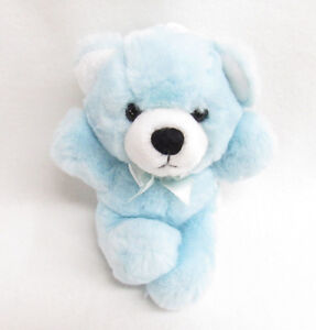 DAKIN APPLAUSE CUDDLES STUFFED PLUSH TEDDY BEAR BABY RATTLE BLUE SOFT TOY
