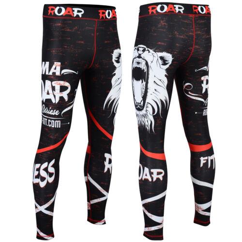 ROAR MMA Rash Guard BJJ Grappling Shorts UFC Cage Fight Training Jiu Jitsu Spats
