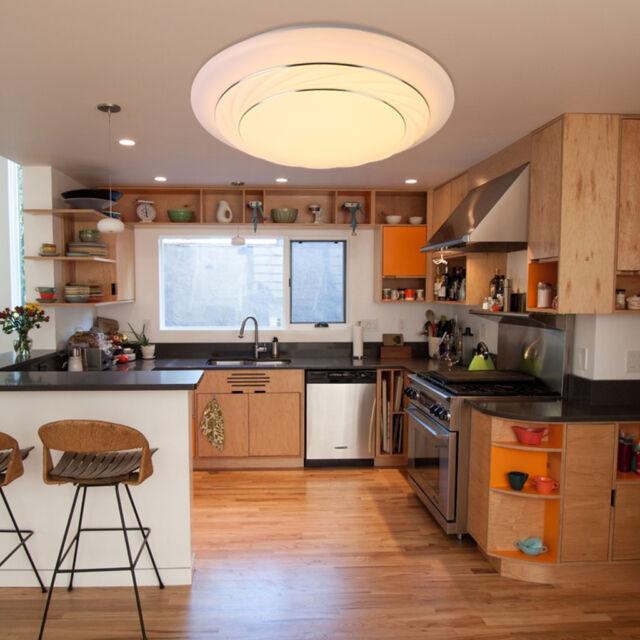 24W LED Ceiling Light Flush Mount Fixture Lamp Kitchen Bedroom Living Room US