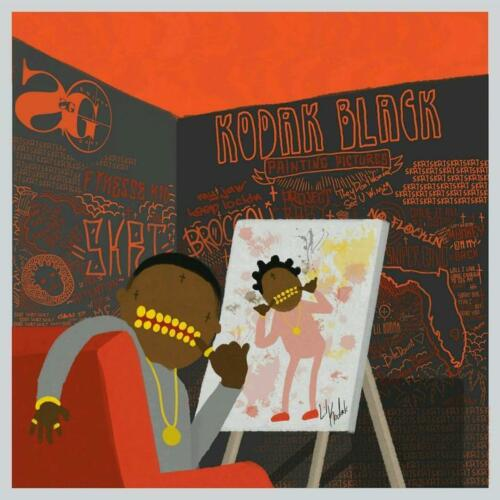 "Kodak Black Painting Pictures 2017 Cover Poster Art Print 12x12/"" 24x24/"" 32x32/"""