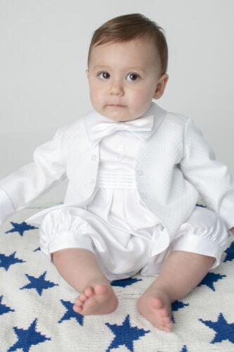 Baby Boys Christening Outfit Christening Suit Christening Romper Diamond White