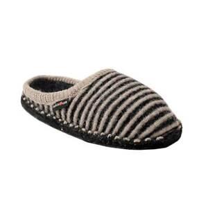Haflinger-Women-039-s-Cathy-Boiled-Wool-Indoor-Comfort-Slipper-Charcoal-Natural