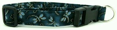 Teal Dragonflies Quick Release Buckle Pet Dog and Cat Collars