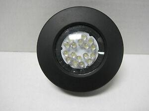 12 Volt Led Dome Ceiling Light 3 Quot Round Black Ebay