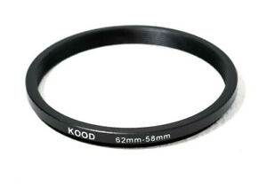 Stepping Ring 62-58mm 62mm to 58mm Step Down Ring Stepping Rings 62mm-58mm