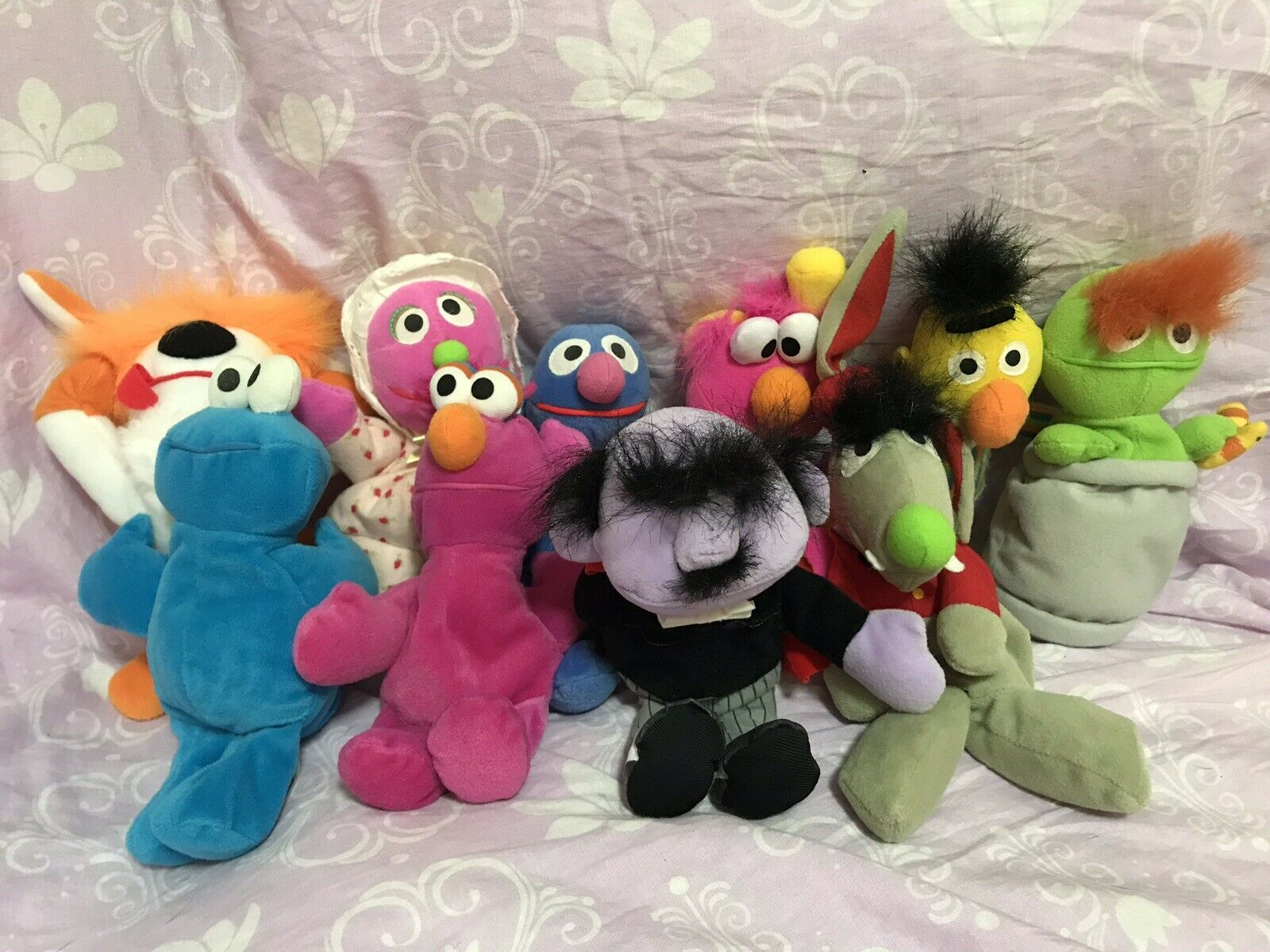 Lot of Sesame Street Plush Doll Bean Toys