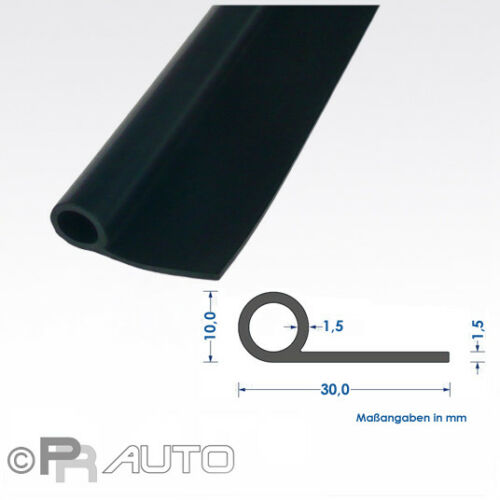 Fahnenprofil Kotflügelkeder Gummi EPDM € 5,25// m 5 mtr.
