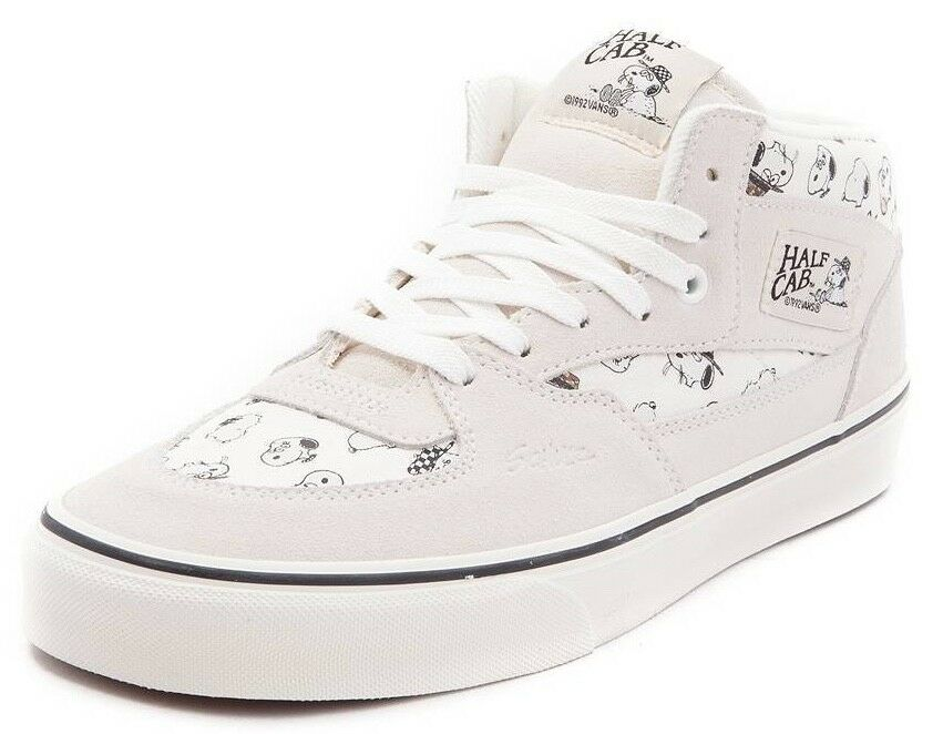 VANS HALF CAB (PEANUTS) SNOOPY SPIKE FAMILY MARSHMALLOW WHITE CANVAS CANVAS CANVAS SUEDE SZ 13 067bc6