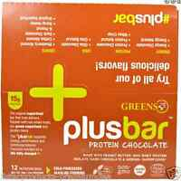 Greens Plus Plusbar Chocolate Protein Nutritional Healthy Snacks Daily Food