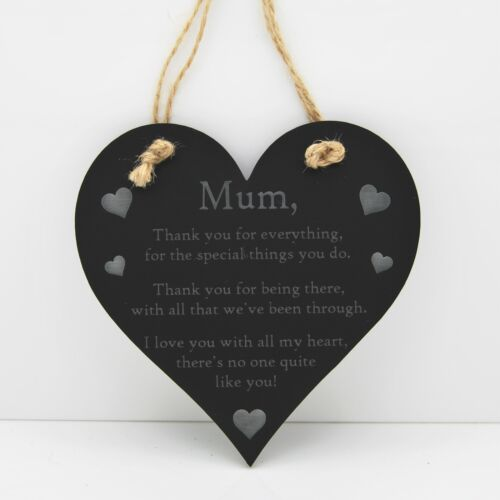 Love//Mum Mothers Day Poem Thank You Heart Sign Lovely Gift//Decoration