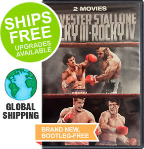 Rocky III 3 / Rocky IV 4 Double Feature (DVD, 2018) NEW, Sylvester Stallone