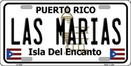 LAS MARIAS PUERTO RICO NOVELTY STATE BACKGROUND METAL LICENSE PLATE