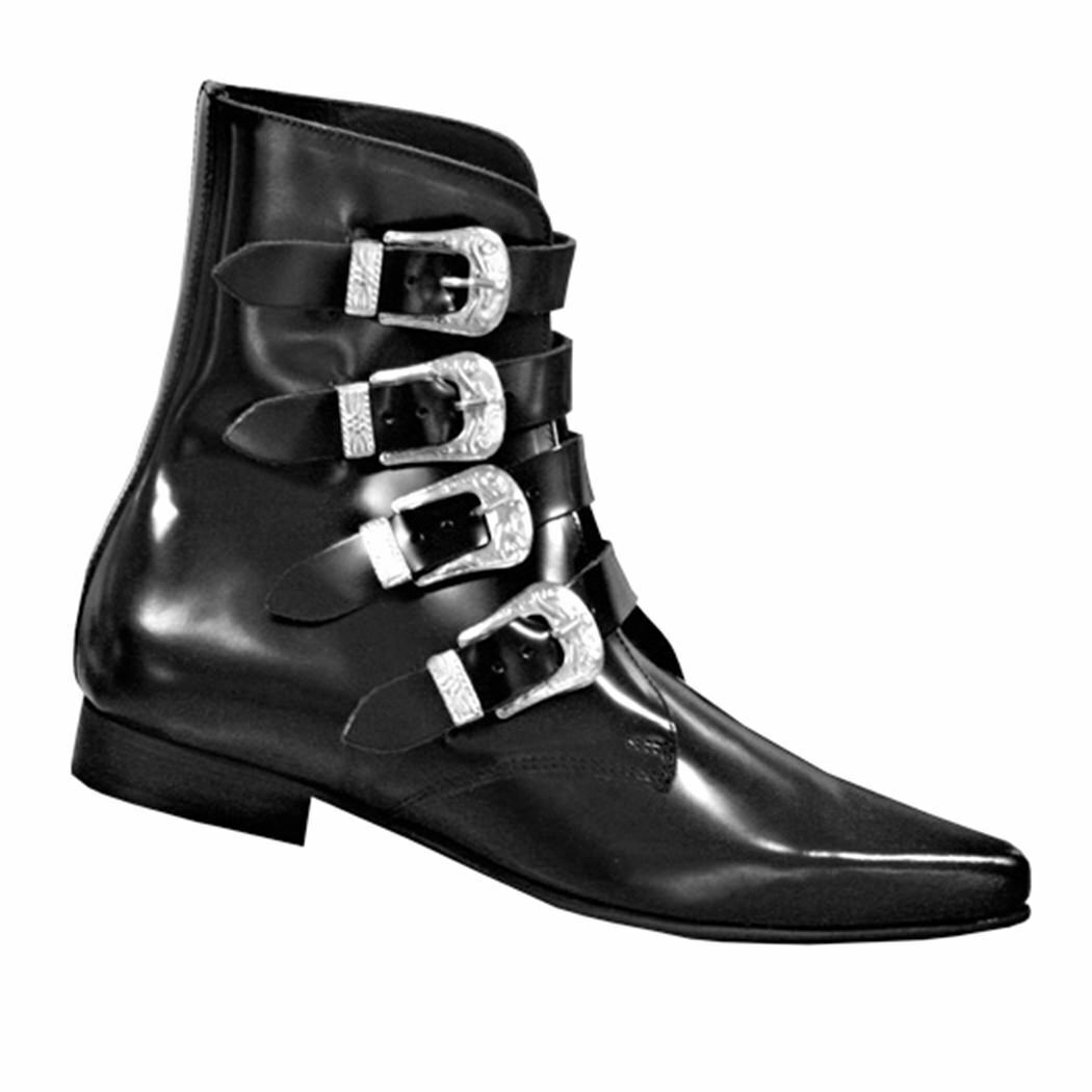 Stiefel & Braces Pikes 4 Buckles Classic-WGT-Gothic-Batcave-Tradgoth