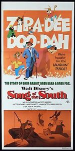 SONG-OF-THE-SOUTH-Rare-Original-Daybill-Movie-poster-Disney-1980r